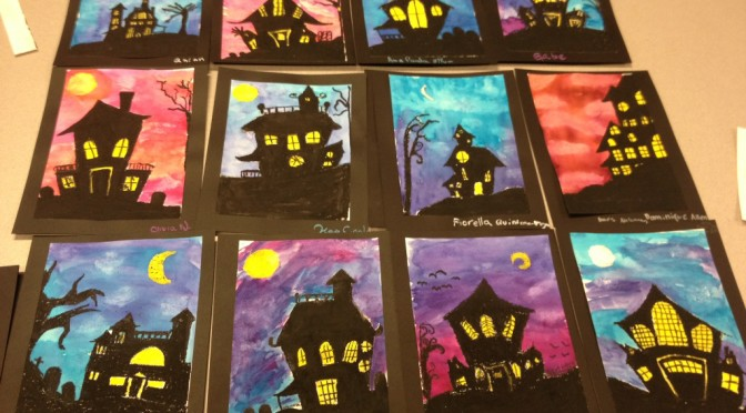 spooky house halloween art lesson art teacher in la