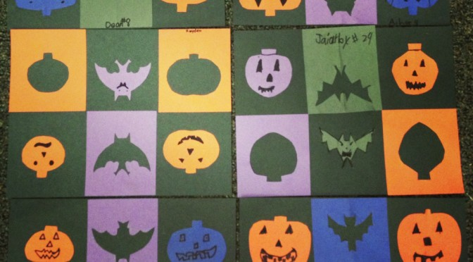 Positive/Negative Halloween Shapes
