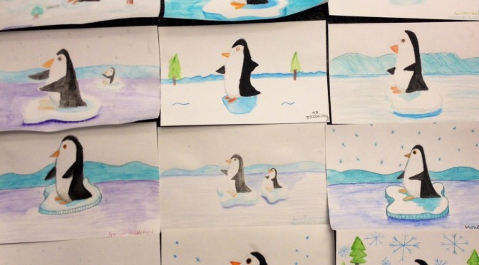 Watercolor Penguins