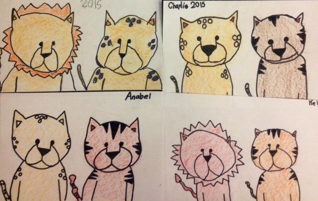 Wild Cat Drawings