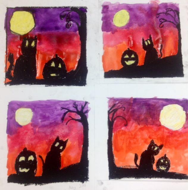 Halloween Art Lesson