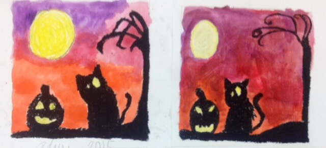 Halloween Watercolor Art Lesson- Spooky Silhouettes