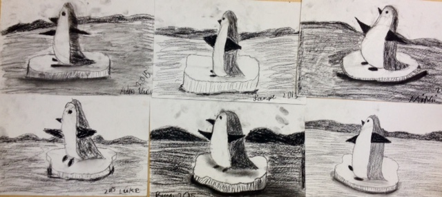 Charcoal Penguins