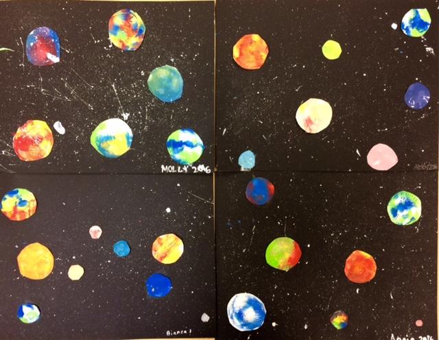 Solar System Mono Prints